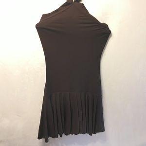 DOLCE & GABBANA Size 44 Dark Brown Halter Dress
